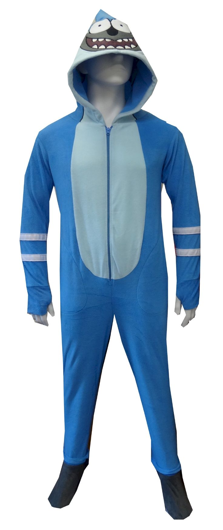 Regular Show Mordecai Unisex Hooded Footie Pajama It's time for some stupid fun with Mordecai from the Regular Show! These unis...