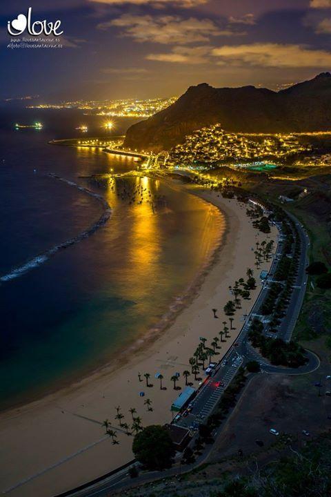 Playa de Las Teresitas #Tenerife #playas #beach #Canarias #viajar #verano #vacaciones #santacruz