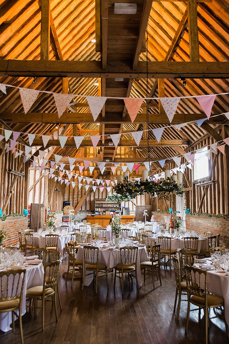 Rustic Barn Wedding In Berkshire With Bunting Wildflowers And Funfair Theme Barn Venue Barn