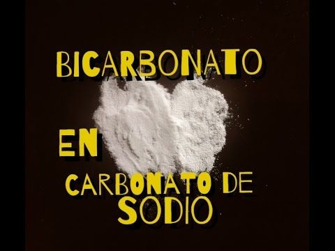Convertir bicarbonato de sodio en carbonato de sodio / Turn baking soda into washing soda - YouTube