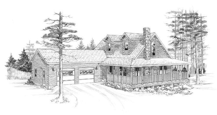 Princeton Model from Ward Cedar Log Homes.