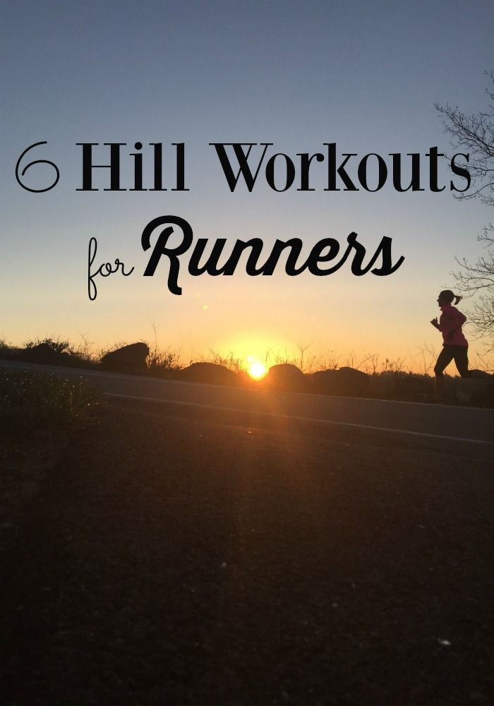 Don't fear the hills! Try one of these 6 hill running workouts for runners, from hilly tempo runs to hill repeats, to run faster and build strength.