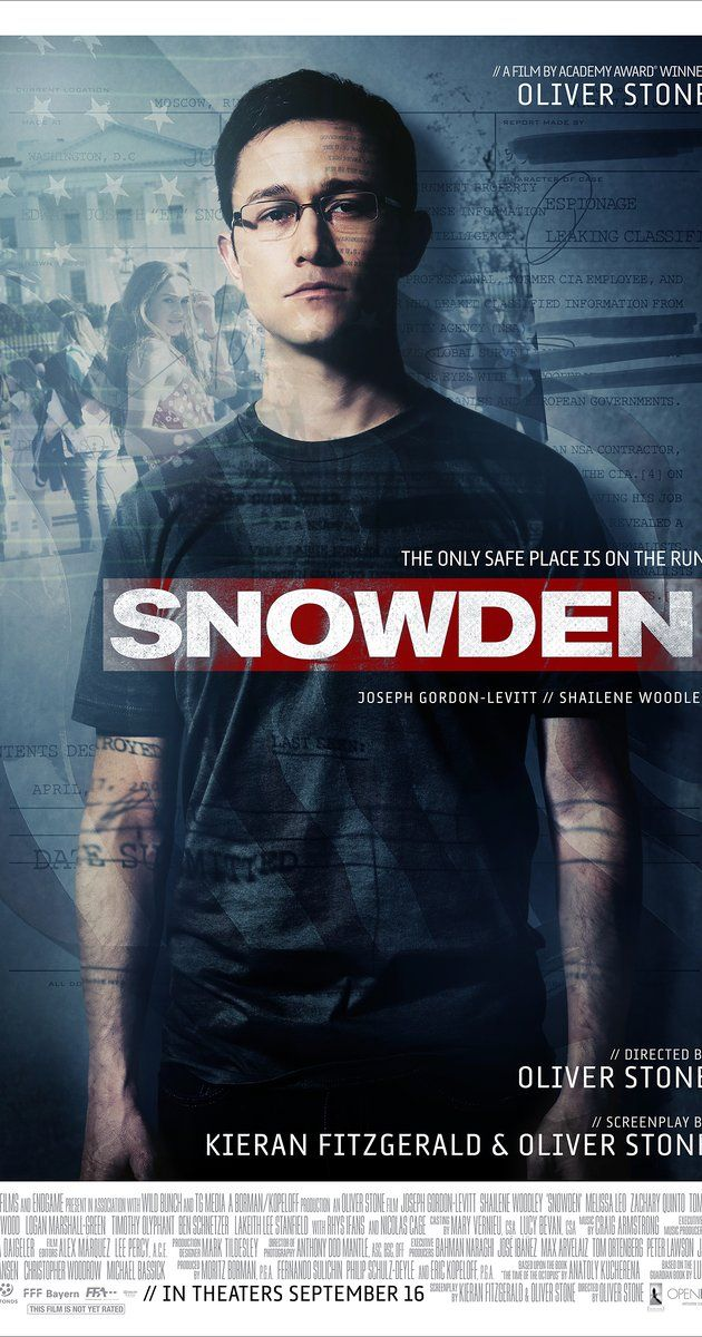 Directed by Oliver Stone.  With Shailene Woodley, Scott Eastwood, Nicolas Cage, Joseph Gordon-Levitt. CIA employee Edward Snowden leaks thousands of classified documents to the press.