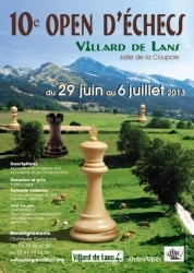 10ème Open d'Echecs, Villard-de-Lans, Rhône-Alpes