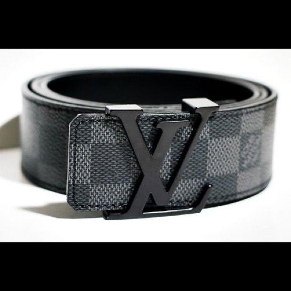 Louis Vuitton belt graphite 34-36