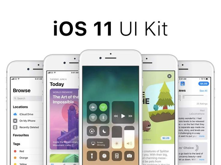 iOS 11 - GUI Kit for Sketch