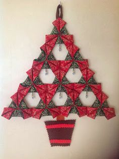 Little by Little by Bossymamma: Folded Fabric Christmas Tree - A Tutorial