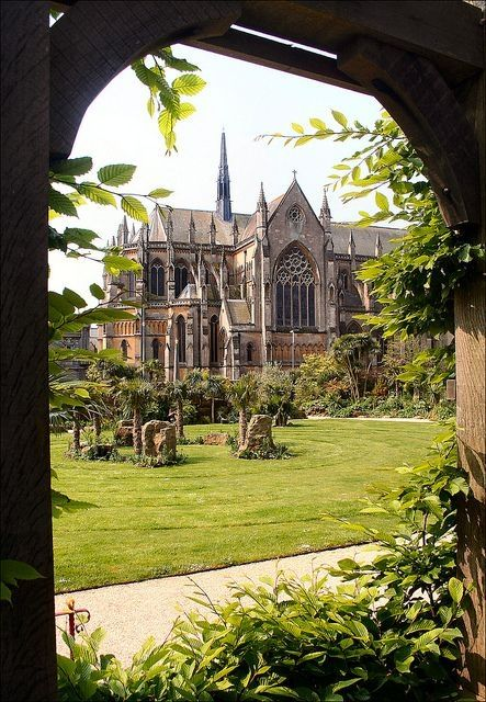Arundel Cathedral from Castle Gardens, Sussex, England by Eva0707