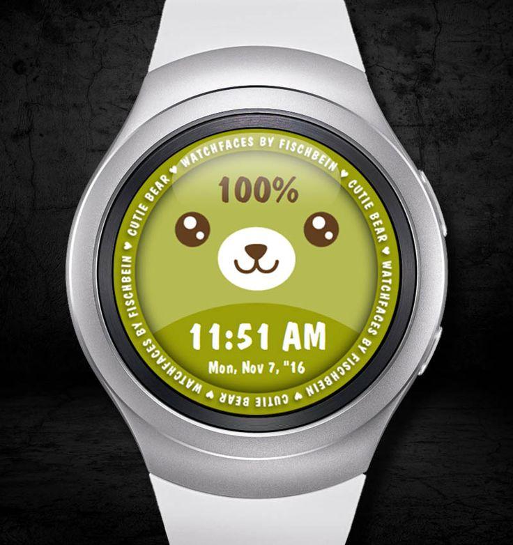Cutie Bear 12h – Watchfaces by Fischbein