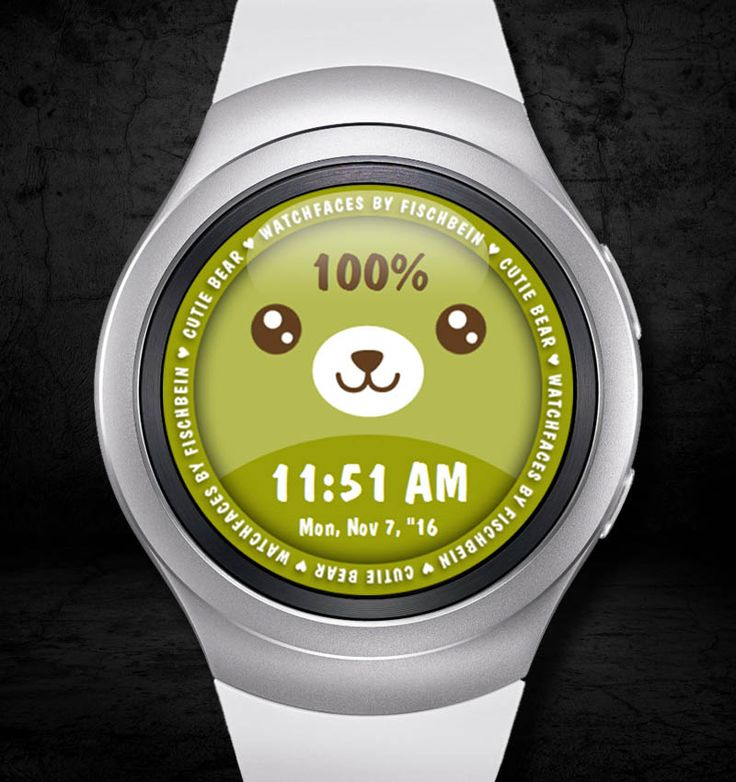 Cutie Bear 12h – Watchfaces by Fischbein