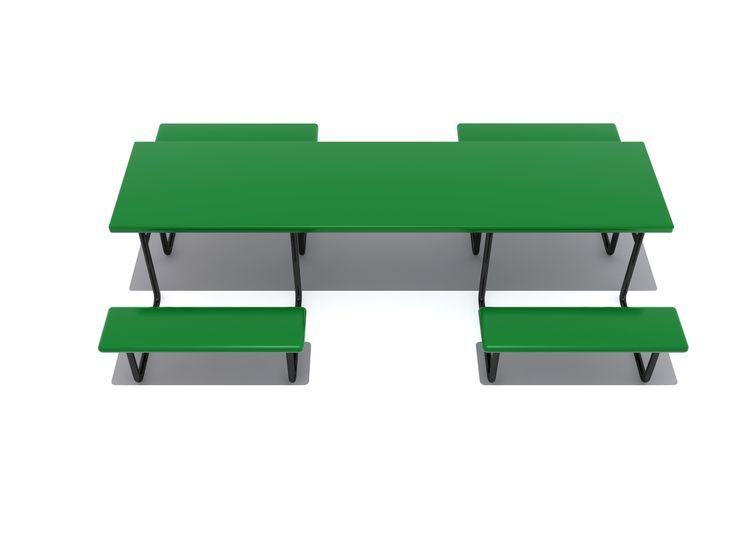 Noahs Park and Playgrounds - Wheelchair Accessible Picnic Table w Center Entry - Perfect for parks, schools, neighborhood gathering areas, camp grounds and much more, the Wheelchair Accessible commercial picnic table is ideal for any areas which must be accessible to people of all-abilities.