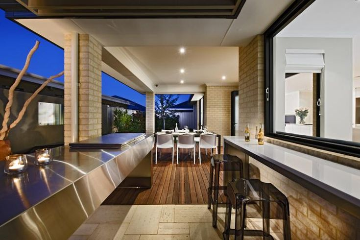 The Sanctuary Display Home Outdoor Photo Dale Alcock Homes Perth Wa Outdoor Living