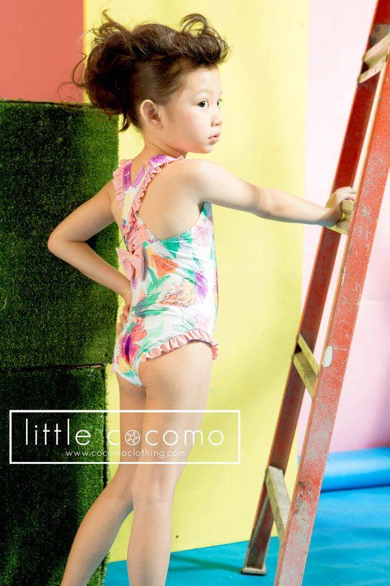 Little Girls Swimwear - Kids Swimsuit - Little Girl Swimsuit - One Piece…