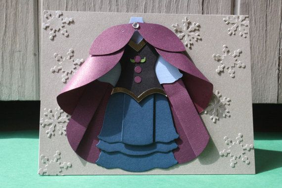 Anna Handmade Card - Frozen Princess