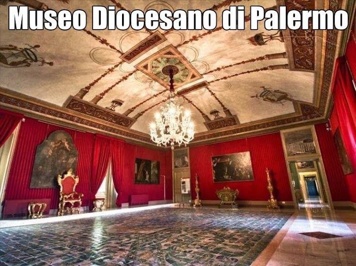 Palermo -  Museo Diocesano di Palermo www.pmocard.it   Flügel des Erzbischöflichen Palais (li.), in dem das Museum untergebracht ist Das Museo Diocesano di Palermo (Diözesanmuseum von Palermo) ist ein Museum in der Stadt Palermo auf Sizilien. Das Museum zeigt vor allem Werke sakraler Kunst aus dem