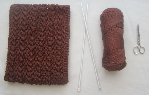 Handmade >>Dark Brown Scarf  Eco Friendly Scarf  Knit by www.itsCOWLdoutside.etsy.com  #scarf  #handmade  #handknit
