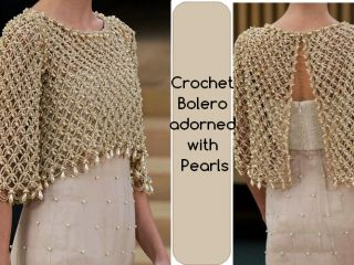 Elegant crochet bolero decorated with beads, for a special occasion.Done at point solomon, this work in crochet isbeautiful and chic. Learn how to make the point of this bolero through images and the video. The video: Stay stylish and beautiful … Read more... →