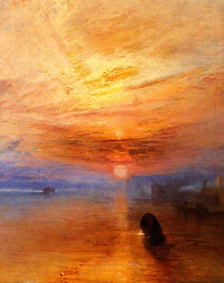 """""""The fighting Temeraire tugged to her last Berth to be broken up""""  Joseph Mallord William Turner (23 April 1775–19 December 1851) was an English Romantic landscape painter, watercolourist and printmaker. Turner was considered a controversial figure in his day, but is now regarded as the artist who elevated landscape painting to an eminence rivalling history painting. Although renowned for his oil paintings, Turner is also one of the greatest masters of British watercolour landscape painting."""