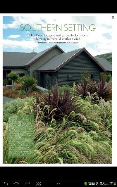 Otago garden in this months nz house and garden love love for Low maintenance garden nz