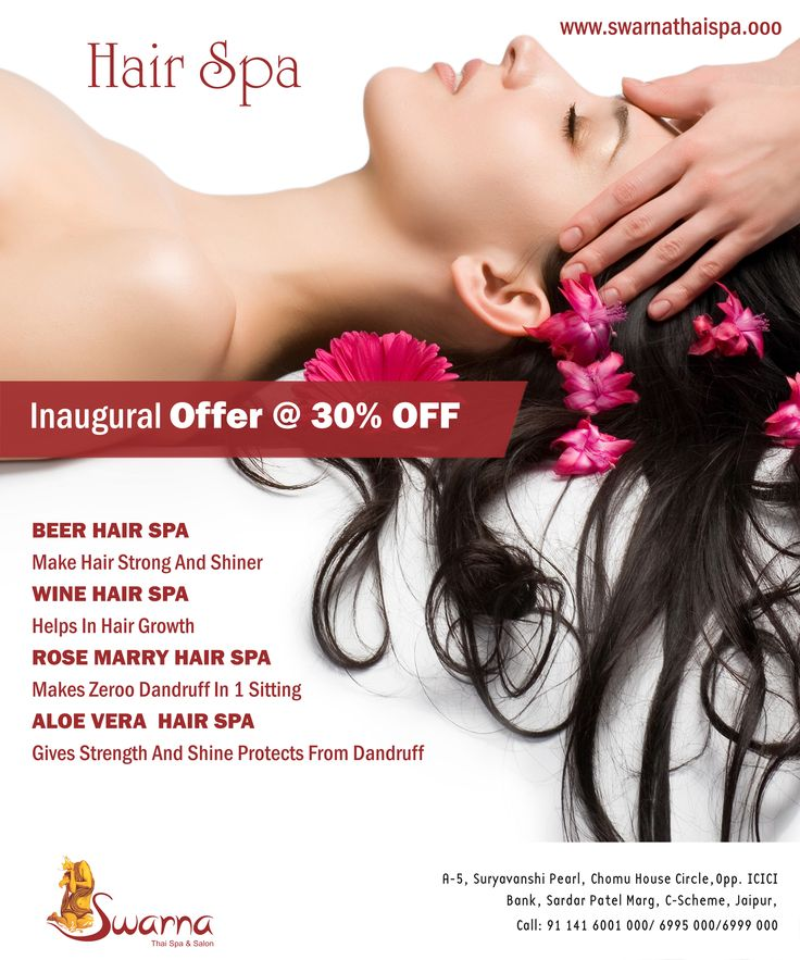 Welcome to Swarna Thai Hair Spa. We offer Hair beauty and hair care. Visit us