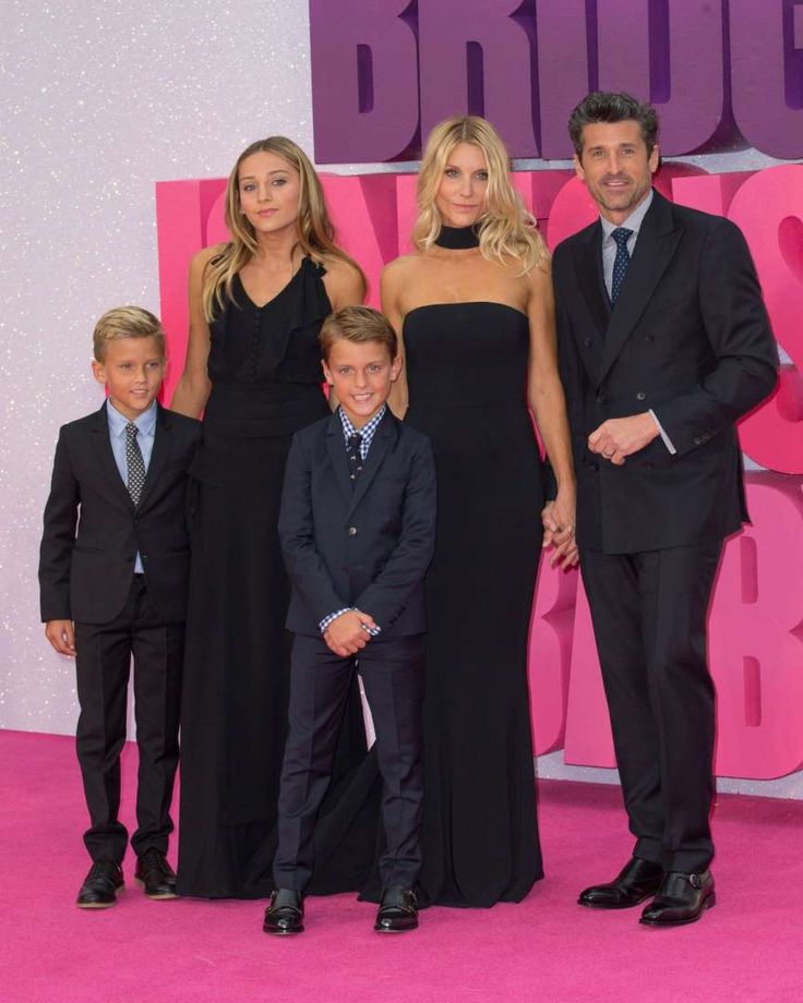 "Celebs and their cute kids in 2016:       Patrick Dempsey, Jillian Fink and their kids Tallula, Darby and Sullivan attended the ""Bridget Jones's Baby"" world premiere at the Odeon Leicester Square in London on Sept. 5."