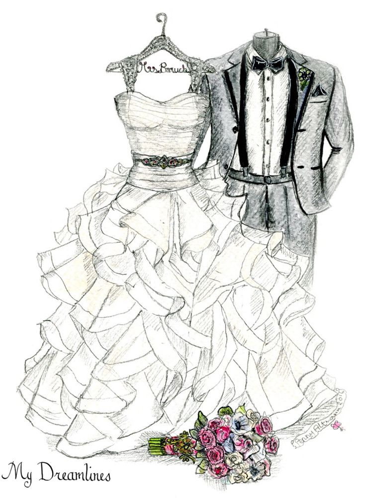 Personal Wedding Dress Sketch | Anniversary Gift | Wedding Gift | Wedding Day Gift From Groom | Bridal Shower Gift | Wedding Guestbook http://www.mydreamlines.com/ #weddinggift #anniversarygift #weddingdresssketch #bridalshowergift #paperanniversarygift #oneyearanniversarygift #romanticanniversarygift