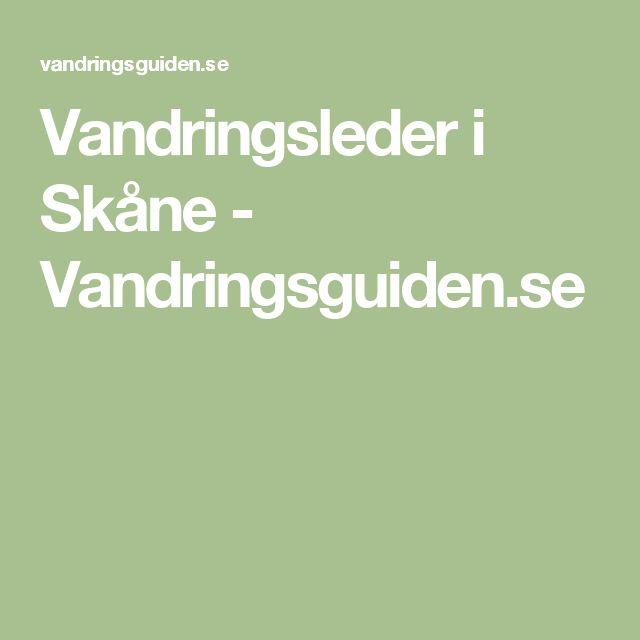 Vandringsleder i Skåne - Vandringsguiden.se