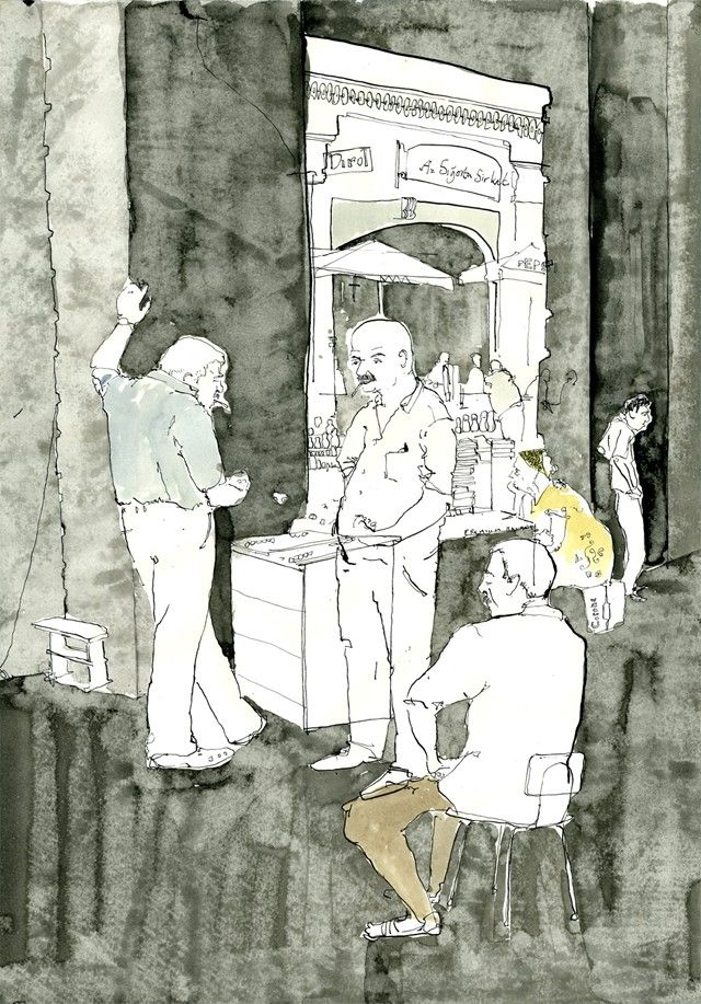 George Butler Reportage Illustrator - Backgammon