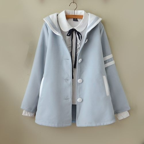 """Kawaii students woolen coat $53.00 enter """"thingsfromjapan"""" for 10% off http://thingsfromjapan.net/korean-students-woolen-coat/ #kawaii coat #asian coat #asian fashion"""