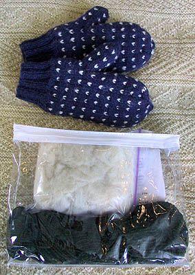 Thrum Mitten Kits (or Thrummed Mittens) using Peace Fleece Wool