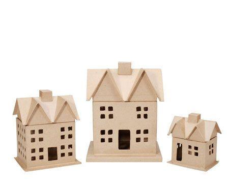 3pcs paper mache house box set 12 x 812 in por