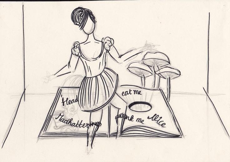 Sketch Alice in Wonderland