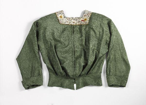 Blouse, Metz & Co, 1905-1910, Liberty silk with embroidery, Gemeentemuseum Den Haag