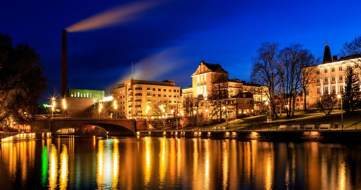 Tampere at night