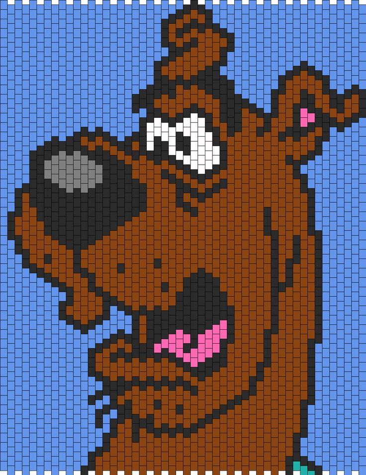 Scared Scooby Doo Bead Pattern