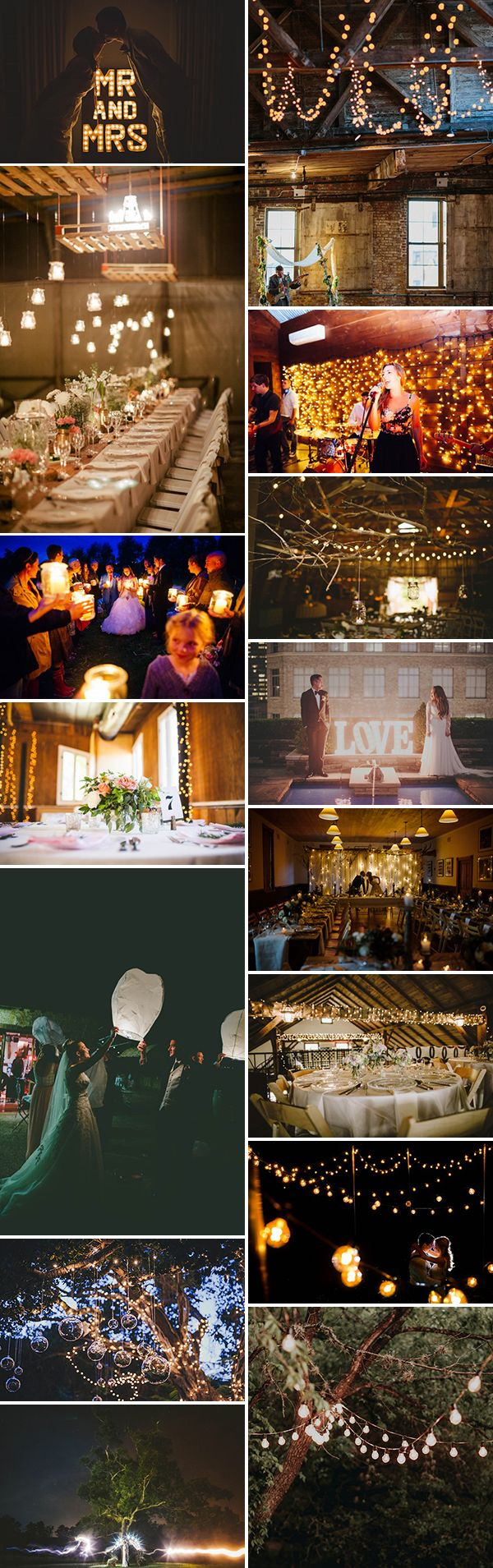 There are so many fun ways to incorporate beautiful lighting into your wedding!