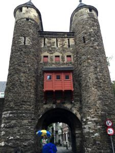 Hells Gate in Maastricht, Netherlands. Part of the old city wall.