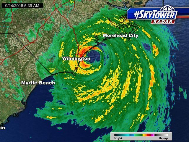 Hurricane Florence Radar View Hurricane And Hurricane Coverage From Myfoxhurricane Com Morehead City Radar Beach Lighting