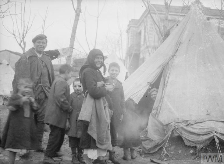Some 40, 000 refugees housed in British tents in Salonika, January, 1917