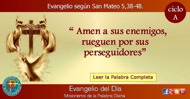 MISIONEROS DE LA PALABRA DIVINA: EVANGELIO - SAN MATEO  5,38-48