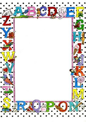 Letters of the alphabet border. Cool!