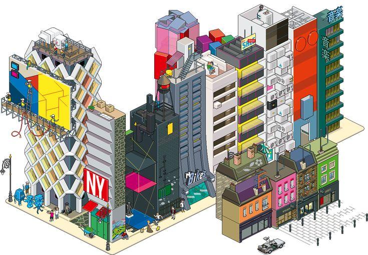如果世界是8位像素的:eBoy作品图赏