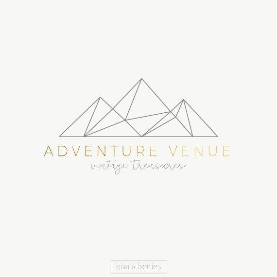 Mountains+logo+design++Minimalist+logo++Black+and+by+kiwiNberries