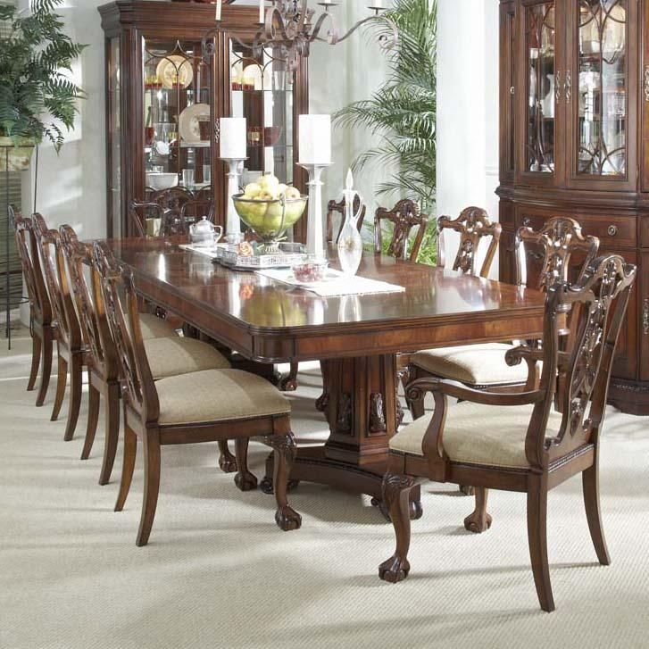 Westview 11 piece dining set with double pedestal table for 11 piece dining table set