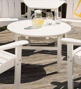Lifestyle Poly-Resin White Occasional Table
