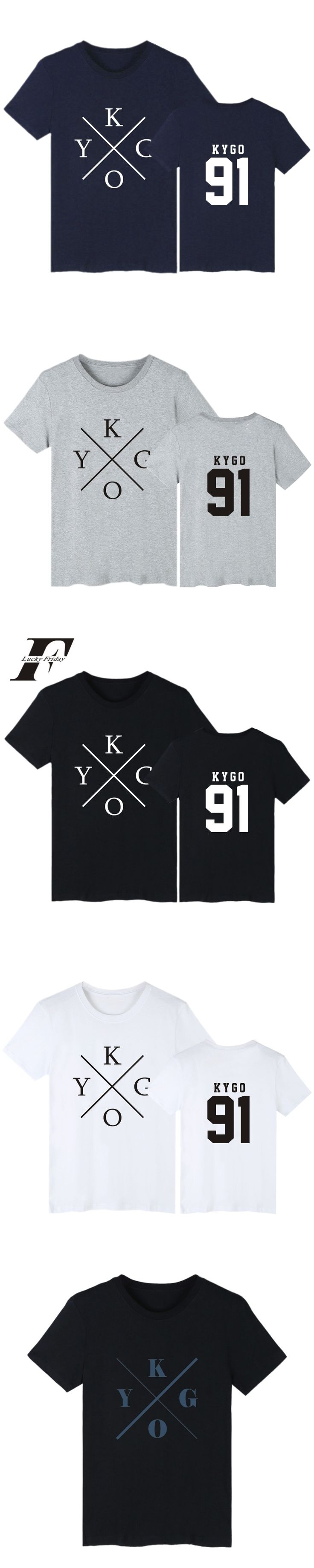 LUCKYFRIDAYF harajuku DJ Kygo Logo Fans Club fitness T-shirt Men Cotton Short Sleeve Casual tshirt Print hip hop Tee Shirt Homme