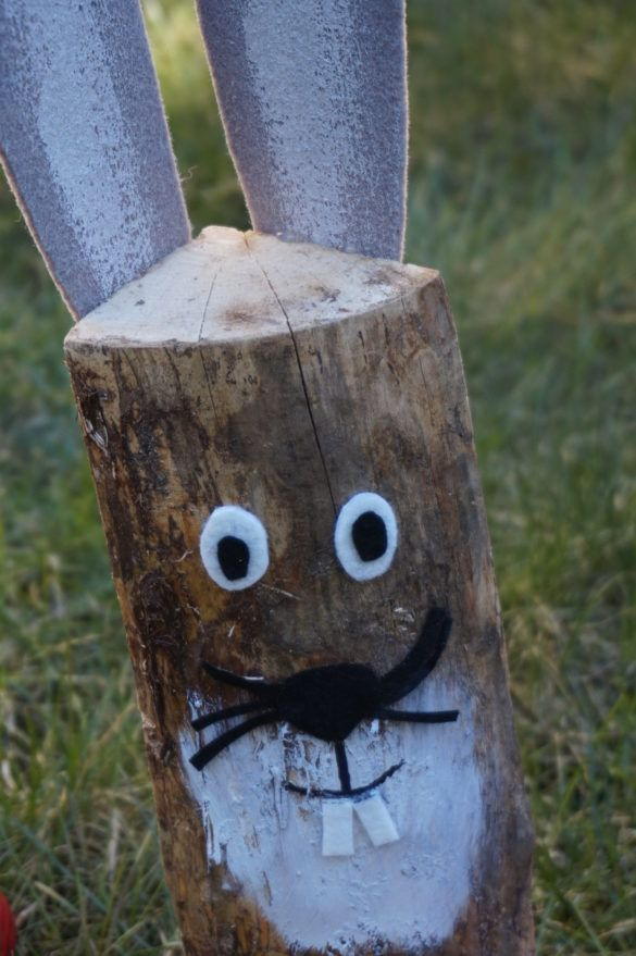Fast DIY Easter decoration and gift idea – the 20 minutes wooden bunny