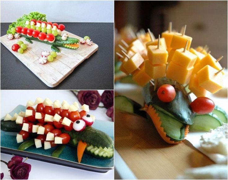 idées repas santé amusant pour enfants: crocodile ou tortue