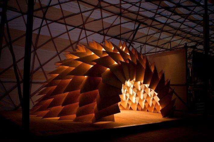 DRAGON SKIN PAVILION   Arquitectura Basura