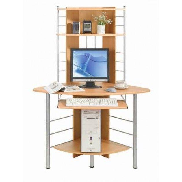 Scrivania Con Monitor A Scomparsa.Scrivania Per Ufficio Porta Pc Angolare In Faggio 115 X 65 Cm Una
